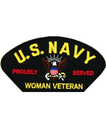 FLB1780 - US Navy Proudly Served Woman Veteran Black Patch