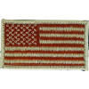 "091210 - US Flag Patch Desert 3 1/8 x 1 3/4""  Velcro"