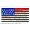 "091304 - US Flag Patch 3 1/4 x 1 3/4"" (Sew On)"