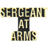 14208 - Sergeant at Arms Script Pin