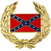 14212 - Confederate Flag with Wreath Pin