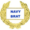 14495 - Navy Brat with Wreath Pin