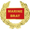 14497 - Marine Brat with Wreath Pin