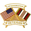 14632 - United States & Afghanistan Crossed Flags Afghanistan Veteran Pin