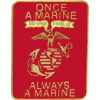 14898 - Once A Marine Always A Marine Pin