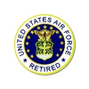 15039 - United States Air Force Retired Emblem Pin