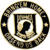 15214 - POW/MIA Symbol with Bring Em' Home Or Send Us Back Pin