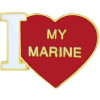 15344 - I Love My Marine Pin