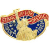 15660 - Stand Up For America Pin