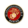 15814 - My Granddaughter Is A Marine Insignia Pin