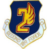 15950 - 2nd Air Force Pin