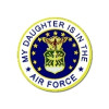 15984 - My Daughter Is In The Air Force Emblem  Pin