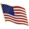 16266 - Wavy U S Flag Large Pin
