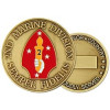 22327 - 2nd Marine Division Challenge Coin