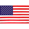 284001 - United States 2 Sided Embroidered Flag 4' x 6'