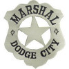 40071ANSI - Dodge City Marshall Replica Badge
