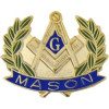 70097 - Masonic Symbol with Wreath Pin