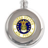 8777 - US Air Force Round 5oz. Stainless Steel Flask