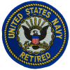FL1091 - US Navy Retired (Round) Small Patch