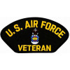 FLB1369 - US Air Force Veteran Emblem Black Patch