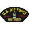 FLB1824 - US Air Force Vietnam Veteran Retired Emblem Black Patch