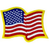 FL1042 - US Wavy Flag Small Patch