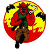 FL1221 - US Marine Corps Devil Dog Small Patch