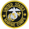 FL1339 - US Marine Corps (Black Background) Small Patch