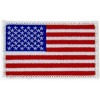 FL1671 - US Flag (Left) White Border Small Patch