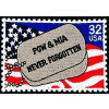 FLB1359 - POW/MIA Stamp Colored Patch