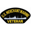 FLB1371 - US Merchant Marine Veteran with Ship Black Patch