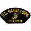 FLB1376 - US Marine Corps Retired Insignia Black Patch