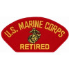 FLB1377 - US Marine Corps Retired Insignia Red Patch