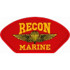 FLB1390 - US Marine Recon Insignia Red Patch