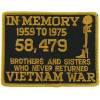 FLB1400 - Vietnam in Memory Black Patch