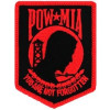 FLB1403 - POW/MIA (Black Background/Red) Small Patch