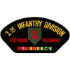 FLB1448 - Veitnam 1st Infantry Division Veteran with Ribbon Black Patch