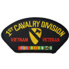 FLB1452 - Vietnam 1st Cavalry Division Veteran with Ribbon Black Patch