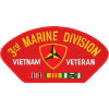 FLB1458 - 3rd  Marine Division Vietnam Veteran with Ribbons Red Patch
