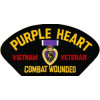 FLB1461 - Purple Heart Vietnam Veteran Combat Wounded Black Patch