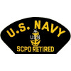 FLB1484 - US Navy E-8 SCPO Retired Black Patch