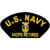 FLB1485 - US Navy E-9 MCPO Retired Black Patch