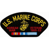 FLB1501 - US Marine Corps Korean War Veteran with Ribbons Black Patch