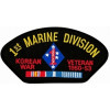 FLB1532 - 1st Marine Division Korean War Veteran with Ribbons Black Patch