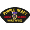 FLB1602 - Purple Heart WW II Black Patch