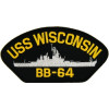 FLB1625 - USS Wisconsin BB-64 Black Patch