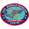 FLB1637 - USS Ronald Reagan CVN-76 Colored Patch
