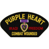 FLB1645 - Purple Heart Iraq Combat Wounded Black Patch