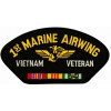 FLB1661 - 1st Marine Airwing Vietnam Veteran with Ribbons Black Patch