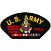 FLB1698 - United States Army Afganistan Veteran Insignia with Ribbon Black Patch